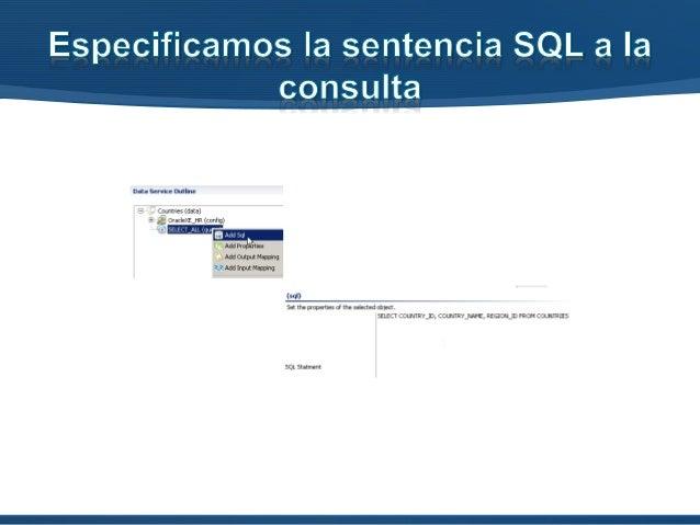 • Al crear la operación, especificamos la consulta asociada para devolver los resultados (SELECT_ALL_OP)