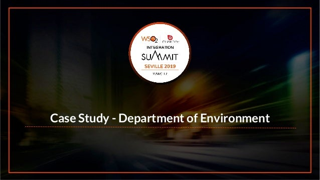Case Study - Department of Environment