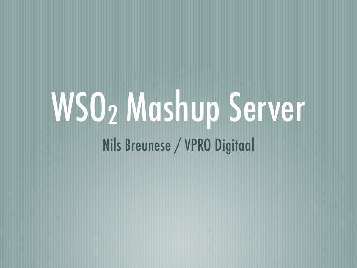 WSO2 Mashup Server    Nils Breunese / VPRO Digitaal