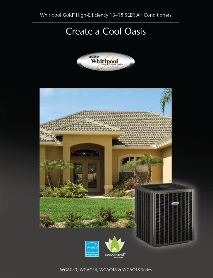 Whirlpool Gold High-Efficiency 13-18 SEER Air Conditioners