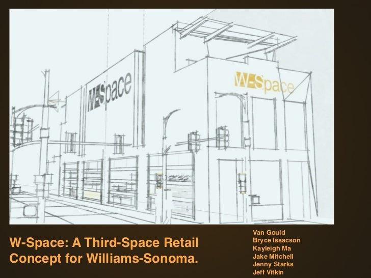 Van GouldW-Space: A Third-Space Retail   Bryce Issacson                                Kayleigh MaConcept for Williams-Son...