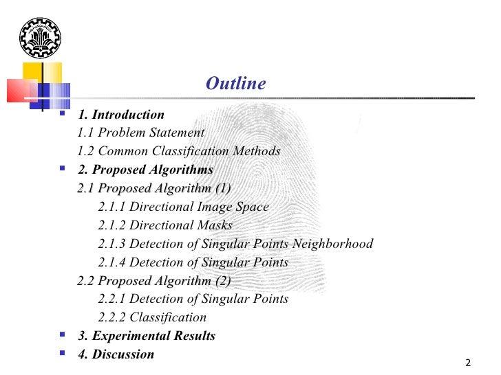 Fingerprint High Level Classification