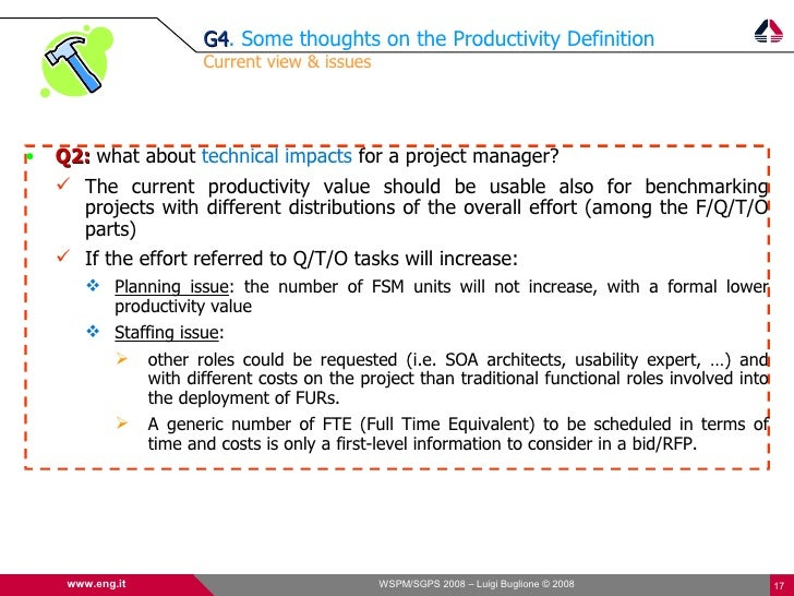 G4. Some thoughts on the Productivity Definition                          G4                          Current view & issue...
