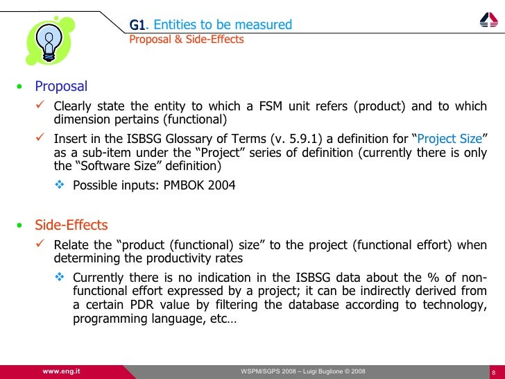 G1. Entities to be measured                    G1                    Proposal & Side-Effects    • Proposal    Clearly sta...