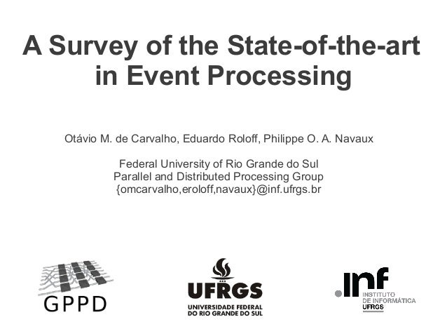 A Survey of the State-of-the-art in Event Processing