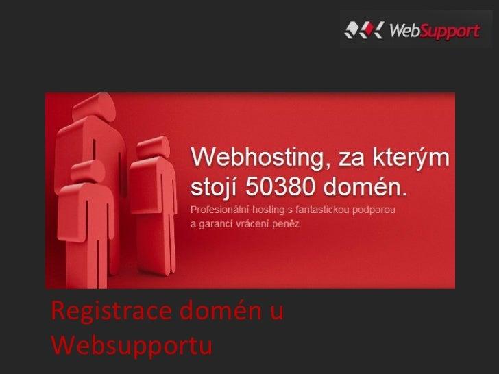 Registrace domén uWebsupportu
