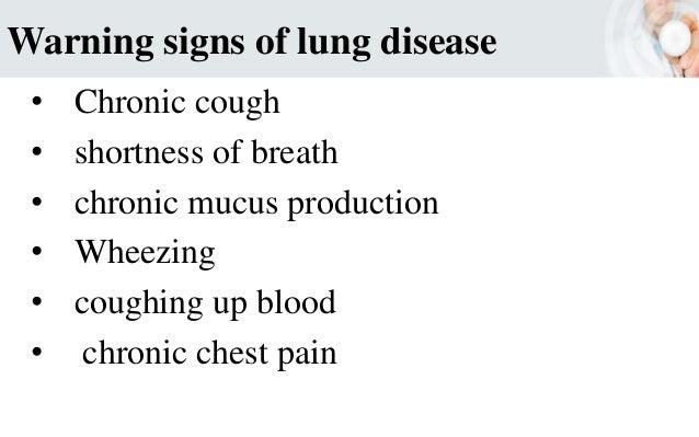 Warning signs of various disease