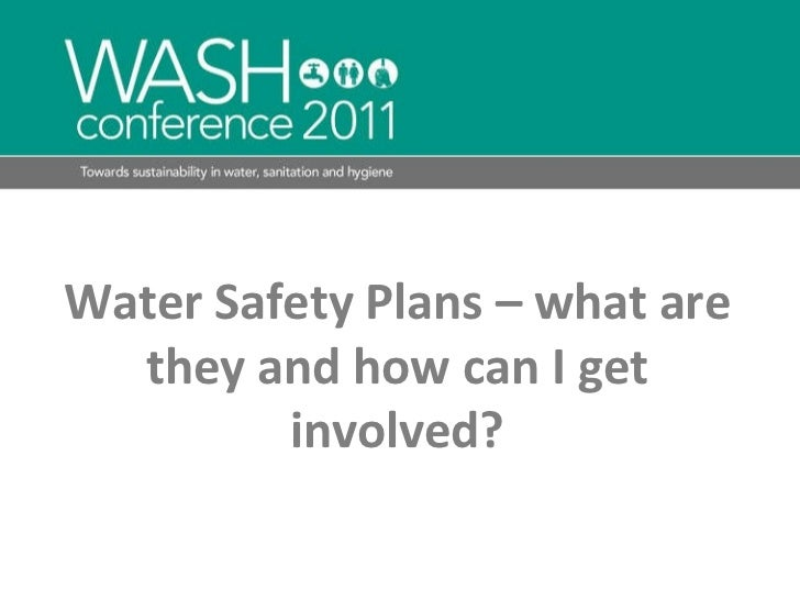 Water Safety Plans – what are they and how can I get involved?