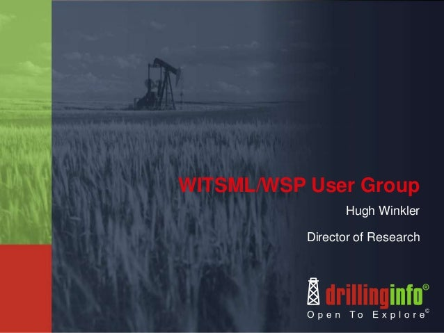 WITSML/WSP User GroupHugh WinklerDirector of Research