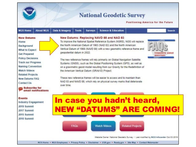 """In case you hadn't heard, NEW """"DATUMS"""" ARE COMING!"""