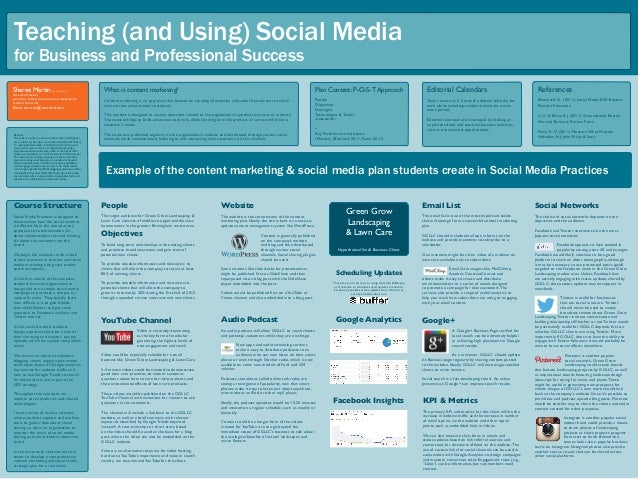 Teaching (and Using) Social Media for Business and Professional Success Abstract This poster provides an overview of the t...