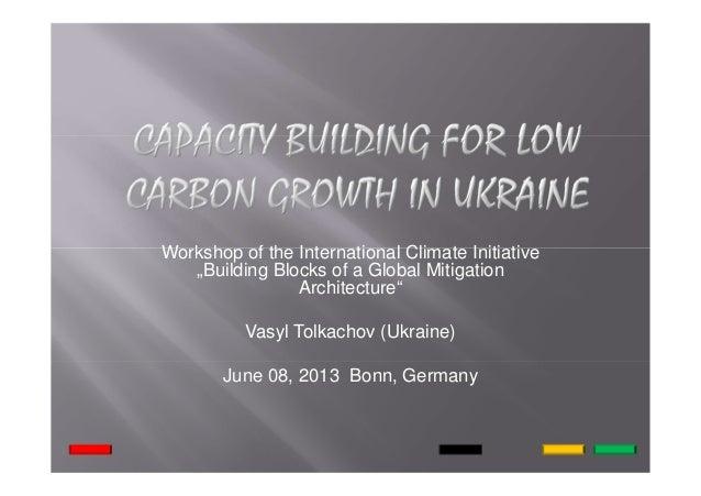 "Workshop of the International Climate Initiative ""Building Blocks of a Global Mitigation Architecture"" Vasyl Tolkachov (Uk..."