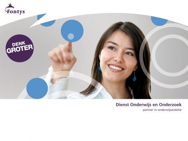 Sociale Media in het Onderwijs               Pierre Gorissen              Dienst Onderwijs en Onderzoek                   ...