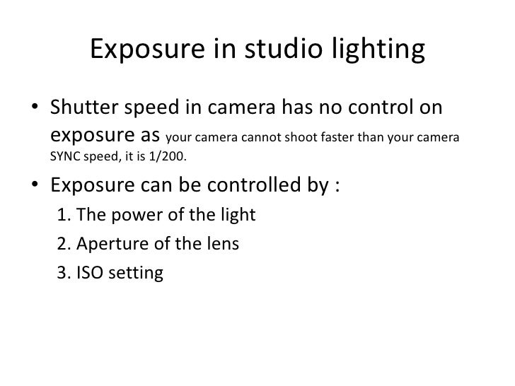 ... 17. Exposure in studio lightingu003cbr ...  sc 1 st  SlideShare & Studio Photography Basics azcodes.com