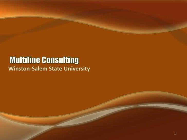 Winston-Salem State University                                 1