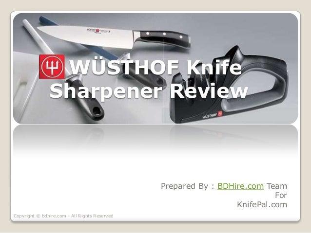 how to use wusthof knife sharpener