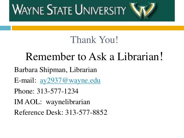 LIS 7880: Library Instruction