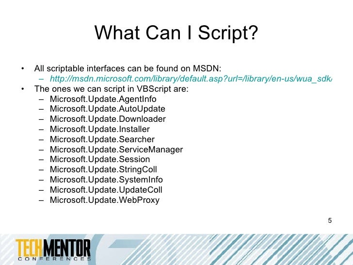 Wsus sample scripts