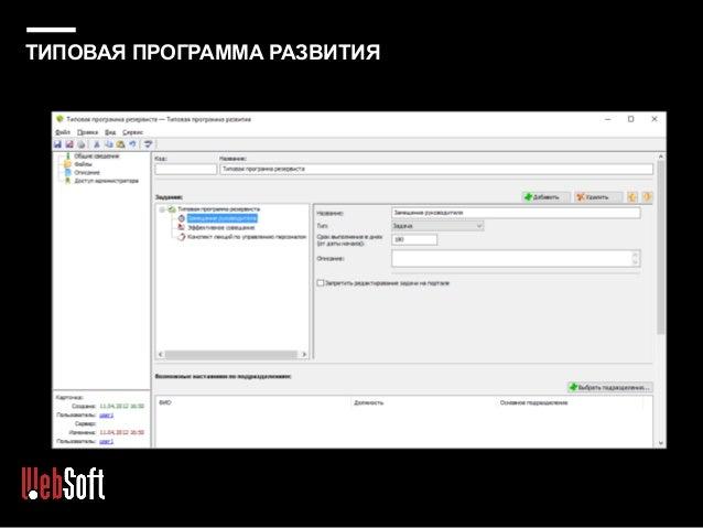 Работа со списком резервистов на портале (пример)