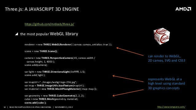 WT-4064, Build Rich Applications with HTML5 and WebGL, by Tony Parisi