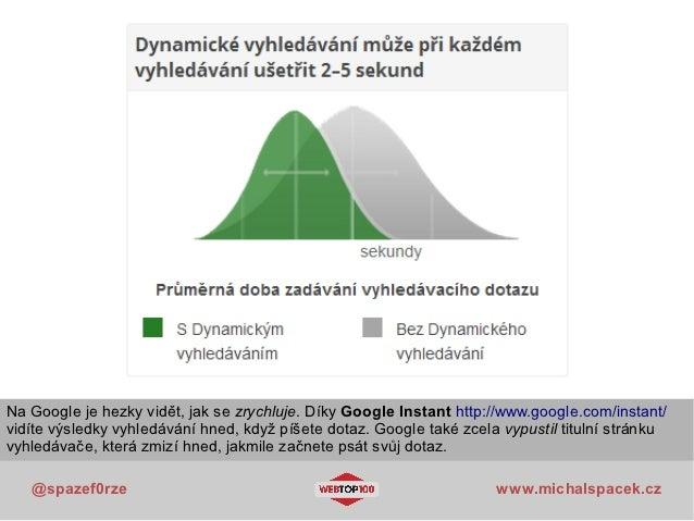 Na Google je hezky vidět, jak se zrychluje. Díky Google Instant http://www.google.com/instant/vidíte výsledky vyhledávání ...