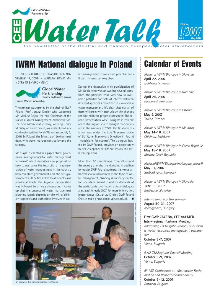 May 2007IWRM National dialogue in Poland                                                                                  ...