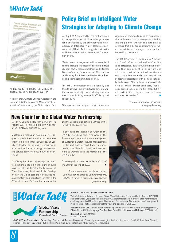 Policy Brief on Intelligent Water                                                    Strategies for Adapting to Climate Ch...