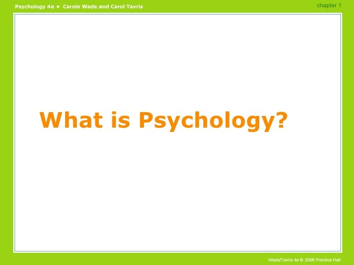 What is Psychology? chapter 1