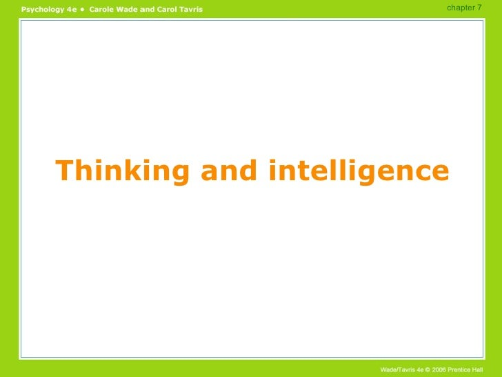 Thinking and intelligence chapter 7