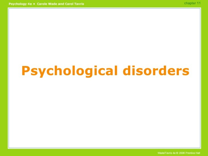 Psychological disorders chapter 11