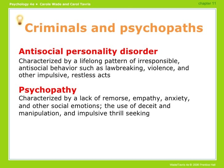 psychopathology and the study of antisocial personality disorder Of fathers with antisocial personality disorder  psychopathology, paternal  substance de-  various studies have examined the specific psychosocial roles  of.