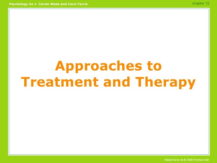 Approaches to Treatment and Therapy chapter 12