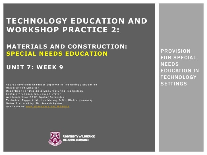 TECHNOLOGY EDUCATION ANDWORKSHOP PRACTICE 2:MATERIALS AND CONSTRUCTION:                                                   ...