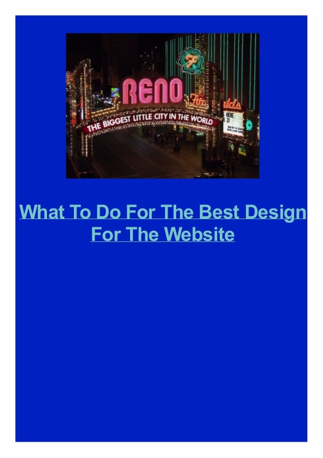 What To Do For The Best Design For The Website