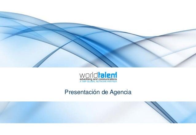 Presentación de Agencia
