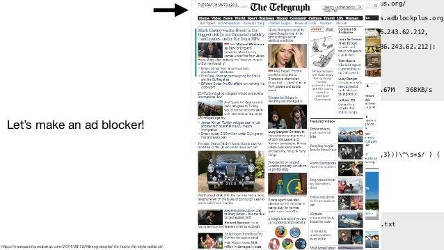 How do ad blockers work? - WTF Ad Blocking UK, 3/10/16