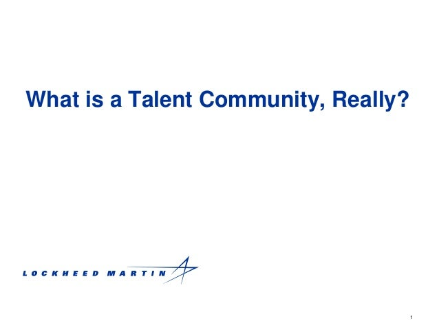 1 What is a Talent Community, Really?