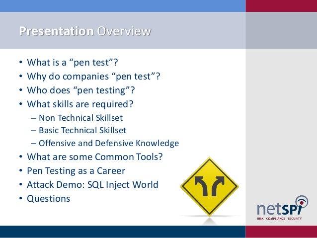 Penetration testing skills