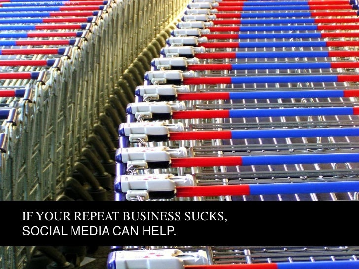 IF YOUR COMPANY'S WORD OF MOUTH SUCKS, SOCIAL MEDIA CAN HELP.