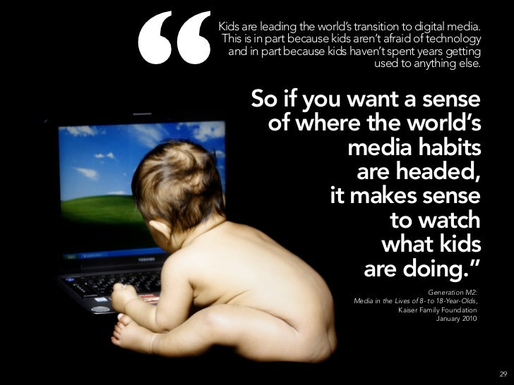"""                Kids are leading the world's transition to digital media.                 This is in part because kids ar..."