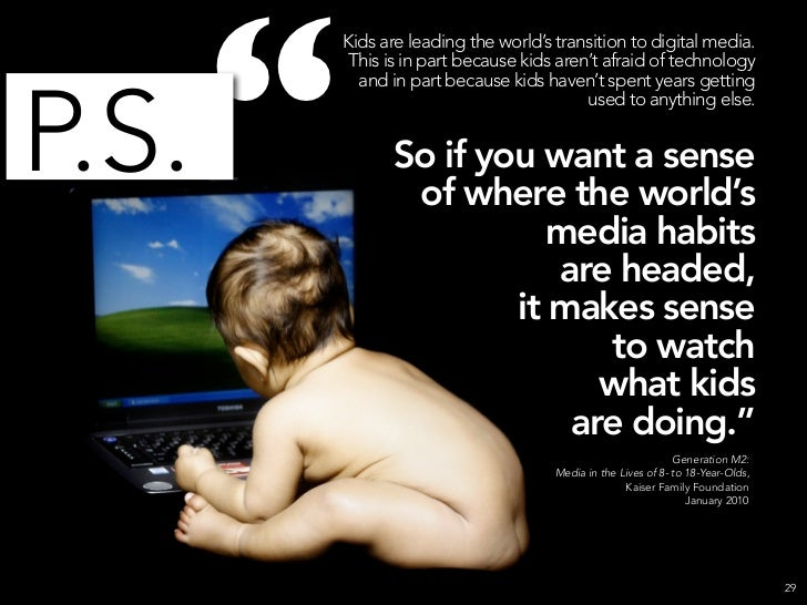 """                 Kids are leading the world's transition to digital media.                  This is in part because kids ..."