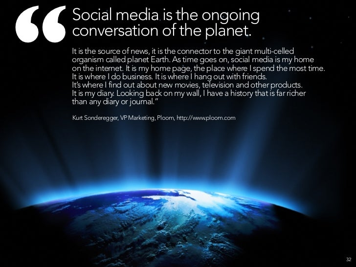 """     Social media is     the mainstream.     The average Facebook user age     continues to rise. It's not just for kids ..."
