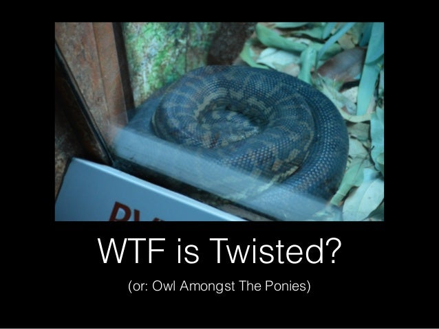 WTF is Twisted? (or: Owl Amongst The Ponies)