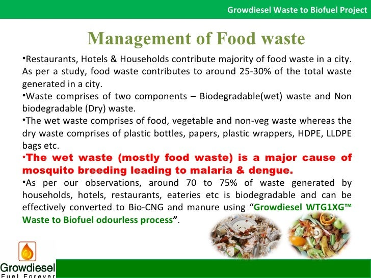 food waste management Launched in 2011 launched in 2013, the us food waste challenge is designed for organizations seeking to make a public pledge/disclosure of their activities to reduce food waste.