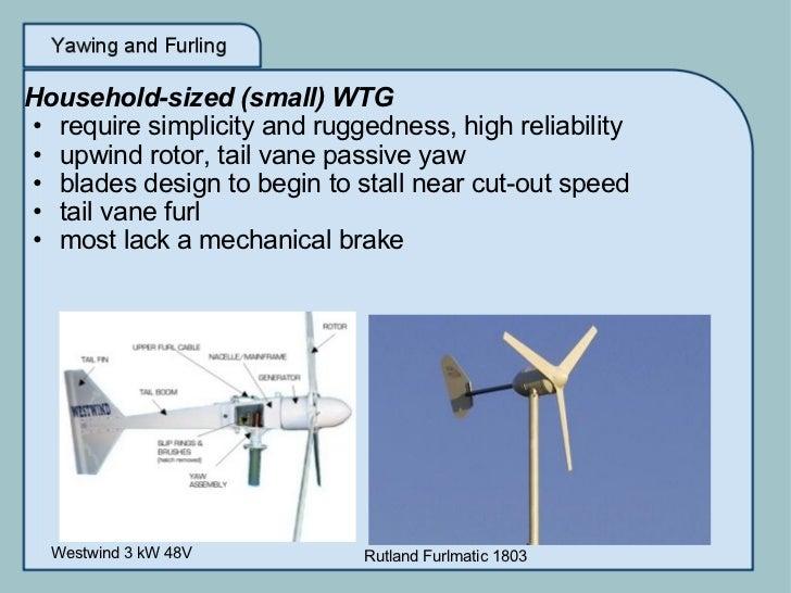 Wind Turbine Generator (WTG) Yawing And Furling Mechanisms