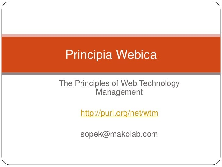 Web Technology Management Lecture II