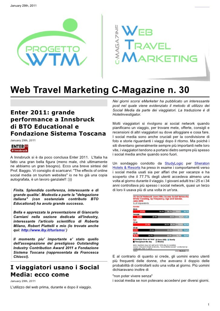 January 29th, 2011Web Travel Marketing C-Magazine n. 30                                                                   ...