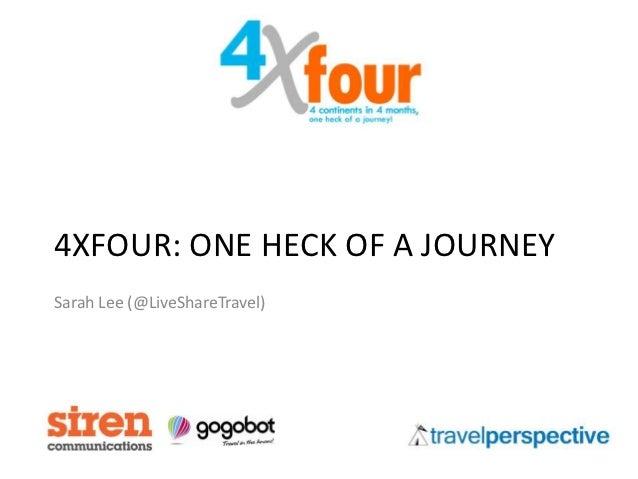 4XFOUR: ONE HECK OF A JOURNEYSarah Lee (@LiveShareTravel)