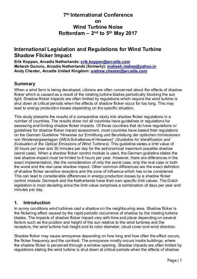 WTN 2017 International legislation and regulations for wind turbine s…