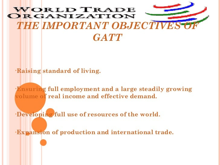 The political economy of the world trading system from gatt to wto